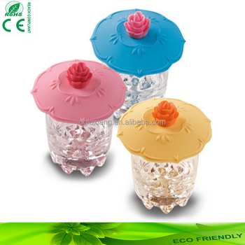 promotion high quality and color beautiful silicone cup lid