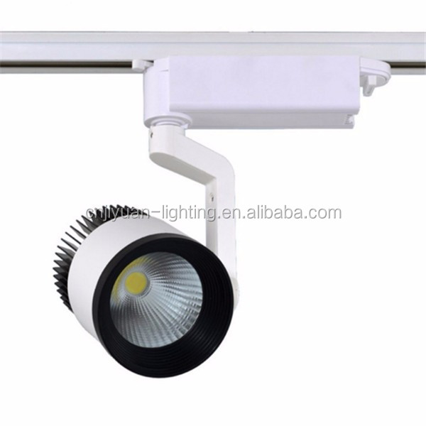 30W Aluminum Alloy LED Track Light Zoom Black White Silver Housing Color
