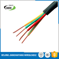2 core 1 mm2 copper rvv flexible round cable electric wire 100m/roll with black pvc coated