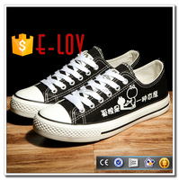 Direct factory led canvas sneakers low top shoes price T-D217H