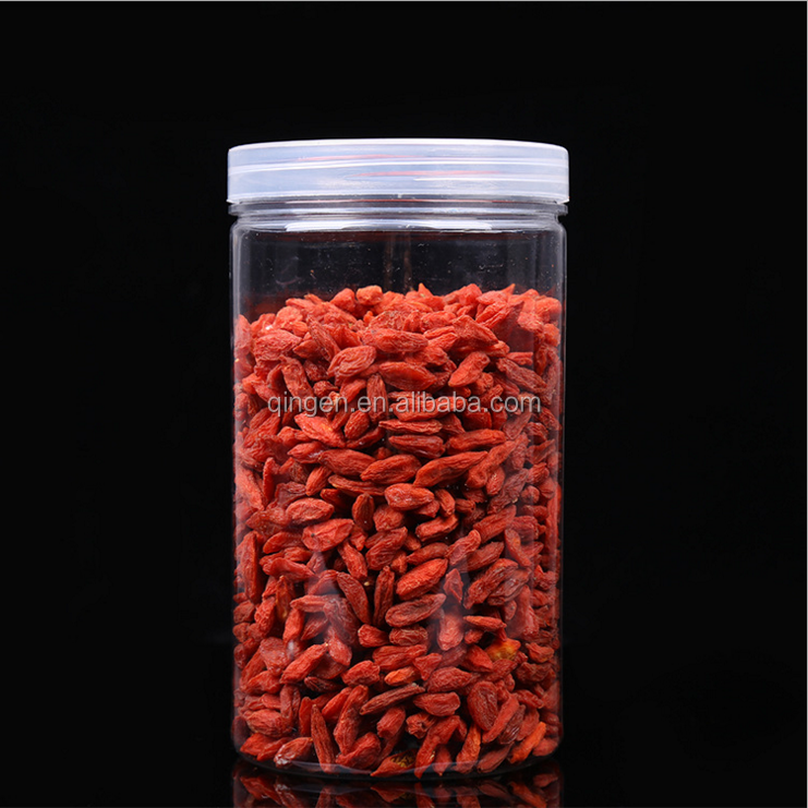 food /cosmetic Cylinder Straight Wall Round PET Plastic Jars Wide Mouth Bottle