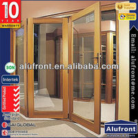 High Quality 100 Series Thermal Break Aluminum And Wood Composit Folding Door made in China