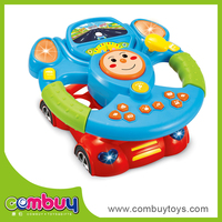 New product baby cartoon cars plastic steering wheel toy