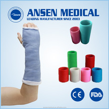 Surgical harmless waterproof orthopedic fiberglass casting tape and bandage