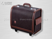 New product leather luggage trunk