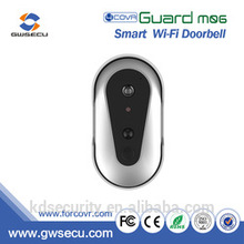 intercom new products push alarm to phone M06 WIRELESS IP BATTERY POWERED PIR DOOR BELL CAMERA
