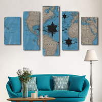 2017 abstract design world map room decor home art china printing canvas