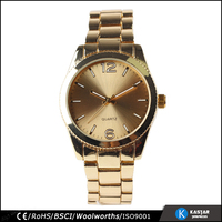 Alloy body vogue quartz japan movement gold mens watch