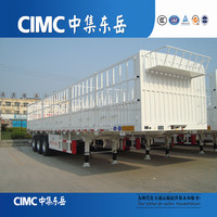 CIMC animal transport fence semi trailer/side panel of livestock trailer lowest price for sale