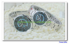 2013 christmas gift steel strip lovers men and lady watch
