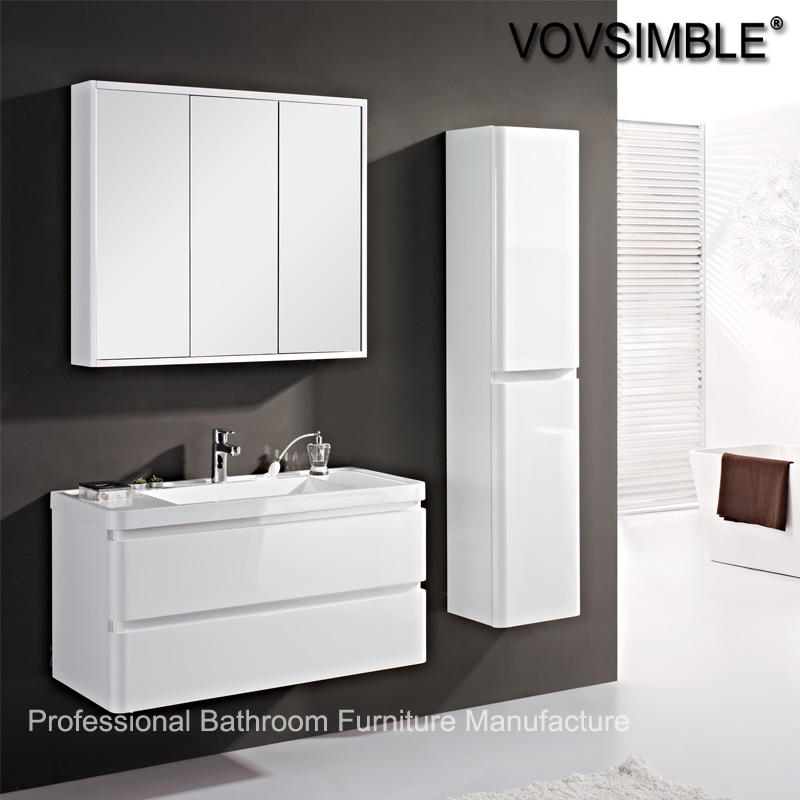 floating marble classic bathroom vanity cabinet unit with basin and mirror cabinet