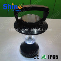 portable rechargeable fluorescent lantern with solar power