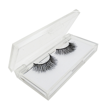 Private label Custom Eyelash Packaging ,100% Real Mink Fur Lash Package Acrylic Eyelash Box Custom Logo Eyelash Packaging