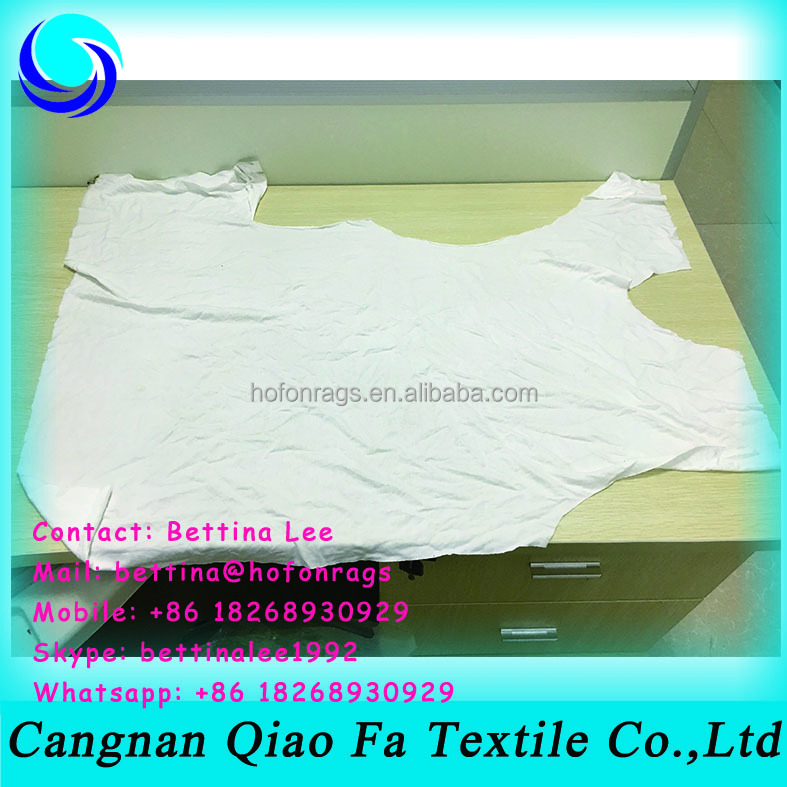 used cotton wiping rags cotton roving waste recycling from plain t shirts baniyan cloth