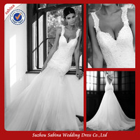 Sh0561 Lace wedding dress low back allure wedding dresses 2014 new arrival