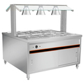 BN-B07 Cabinet Type of 8 Pan Bain Marie With Heat Lamps