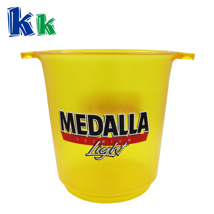 Ice Bucket Black 4L 5L Plastic Square Ice Cube Bucket Cooler