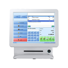 China Electronic white gas station pos system android all in one computer 15 inch USB restaurant/supermarket for sale