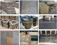 slate type and yellow black white green yellow brown pink etc color culture stone