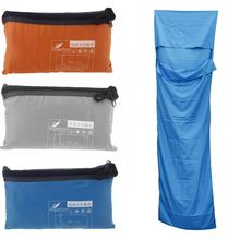 Ultra-light Portable Polyester Pongee Healthy Single Sleeping Bag Liner Outdoor Camping Travel Sleeping Bag Blue/Orange/Grey