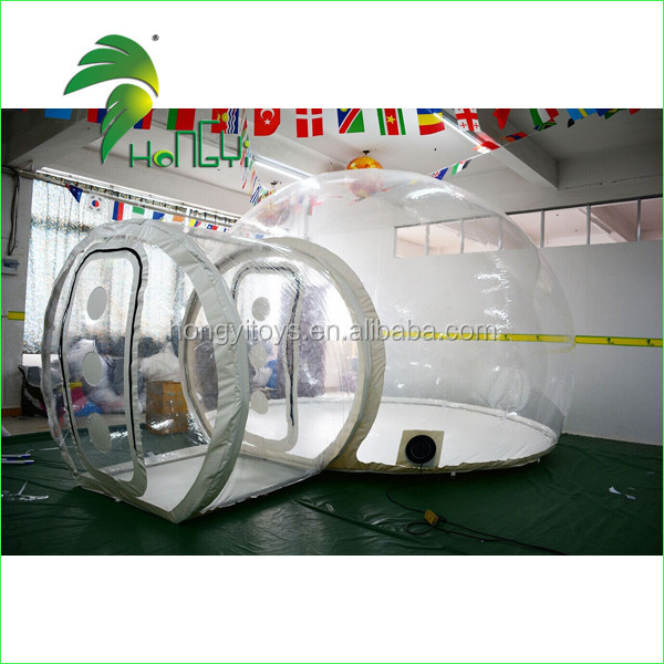 Hot Sale Outdoor Inflatable Transparent Clear Camping Lodge Tent, Inflatable Transparent Bubble Tent For Sale