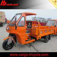 best quality heavy loading utility gasoline china cargo tricycle with cabin