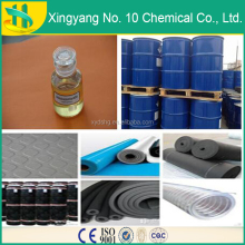 Plasticizer/fire retardant uses liquid chlorinated paraffin 52%