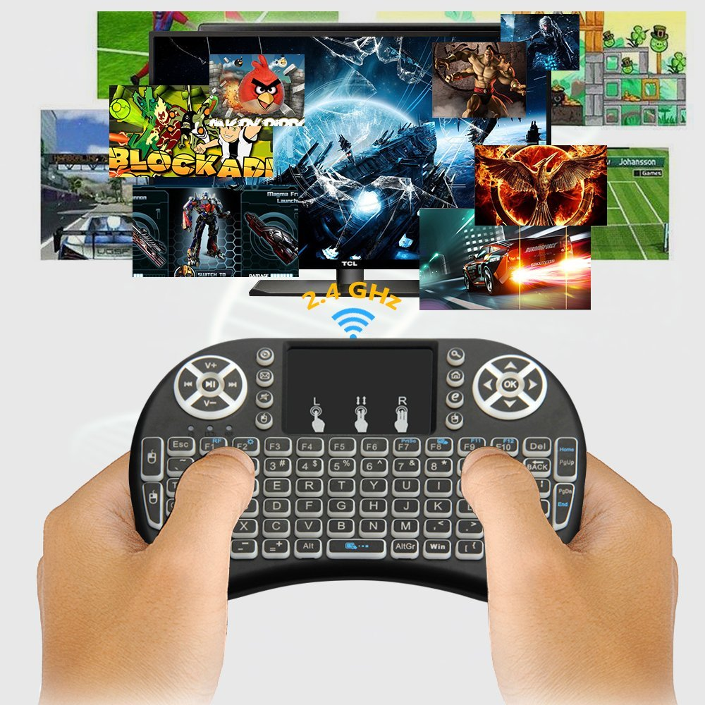 hot selling rii i8 keyboard backlit i8 pro 2.4g wireless wireless keyboard and mouse combo