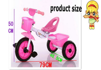 Kid foldable tricycle pink green blue