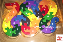 wooden toy,educational kids toy 3d wooden puzzle toy snake type