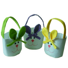 Easter Gift Bag Non-woven fabric Material Rabbit Ear Shape Gift Candy Bags for Kids Gifts Packing Easter Decoration