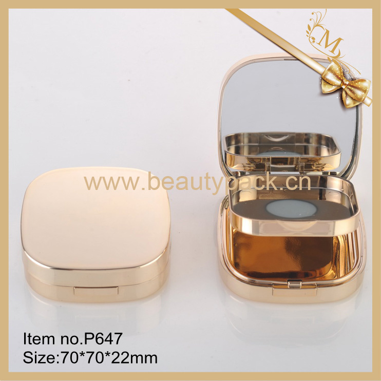 square compact powder cosmetic container