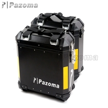 Brand New Pazoma High Quality Aluminum Black Motorcycle Side Panniers Universal 36 Liters Per Piece For Street Bike