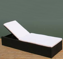 synthetic rattan outdoor sunbed for poolside