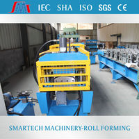 Color Steel Metal Roof Ridge Cap Tile , Cold Roll Forming Machine