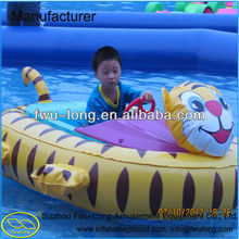 Professional Cartoon Design Inflatable Bumper Coin Operated Aqua Boats on Promotion