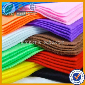 Needle punched non-woven 100% polyester felt fabric