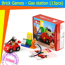 TOYZ Building Block Play Set Gas station 13 pcs Shantou Chenghai toys