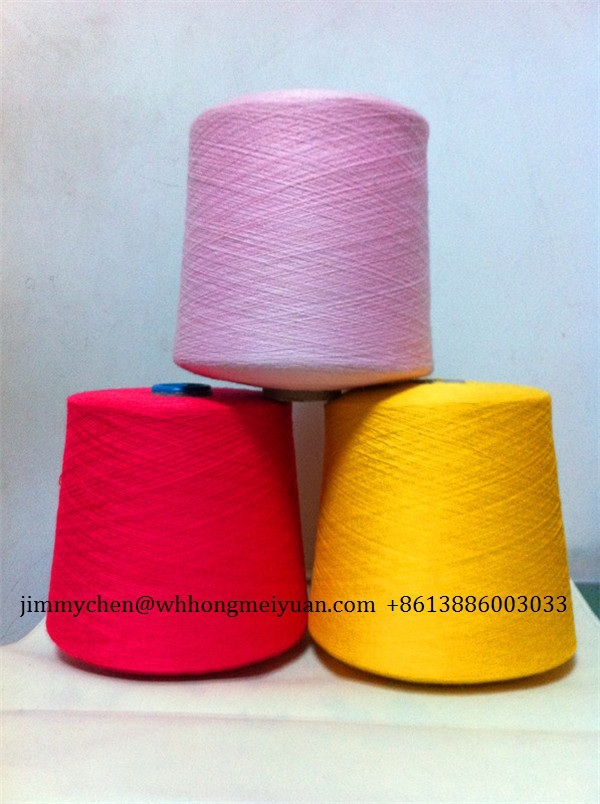 Fluorescent color polyester spun yarn 40s/2