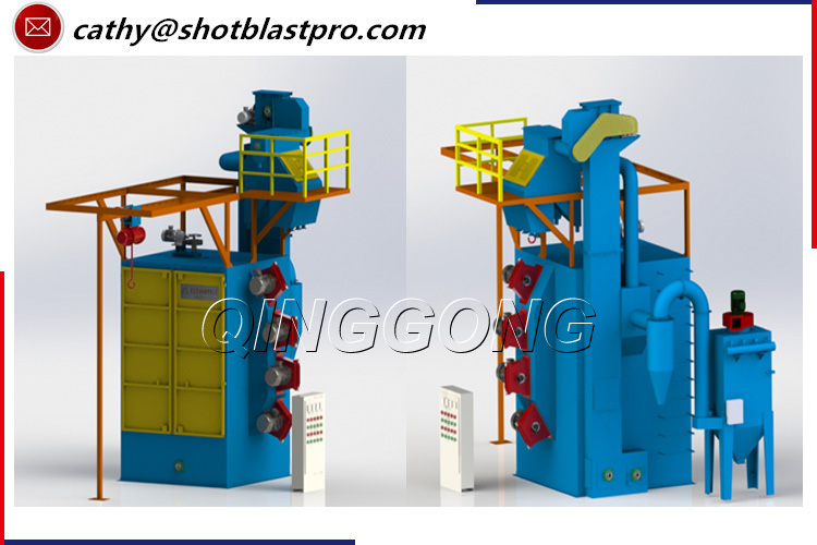 Small- scale Steel Workpiece Hook Type Shot Blasting Machine