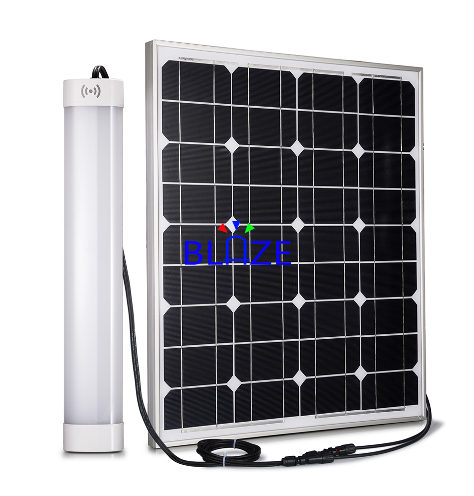 Solar led tri-proof light linear lighting Microwave sensor batten light 2 3 4 feet