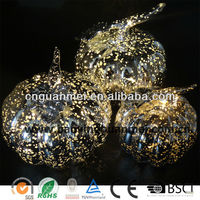 Newest cold white led string light siver halloween pumpkin decorations