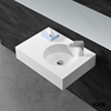 special flower shape hindware wash basin, solid surface resin stone wash basin