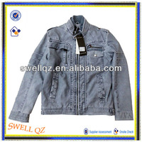 Winter stylish leather jackets, Vintage clothes coat with garment dying