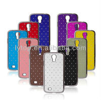 Luxury PC Back Case Cover for Samsung Galaxy S4 i9500 Hard Cases, Diamond Metal Bumper for Samsung S4 Skin Bag Phone