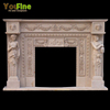 Luxury Hand Carved Artificial Indoor Used Marble Fireplace