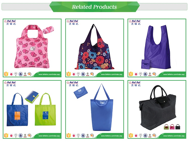 Latest design Eco 190t polyester shopping foldable Bag