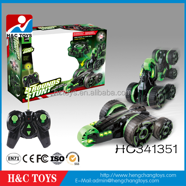 New style 6 channel 5 wheels remote control rc stunt car HC341351