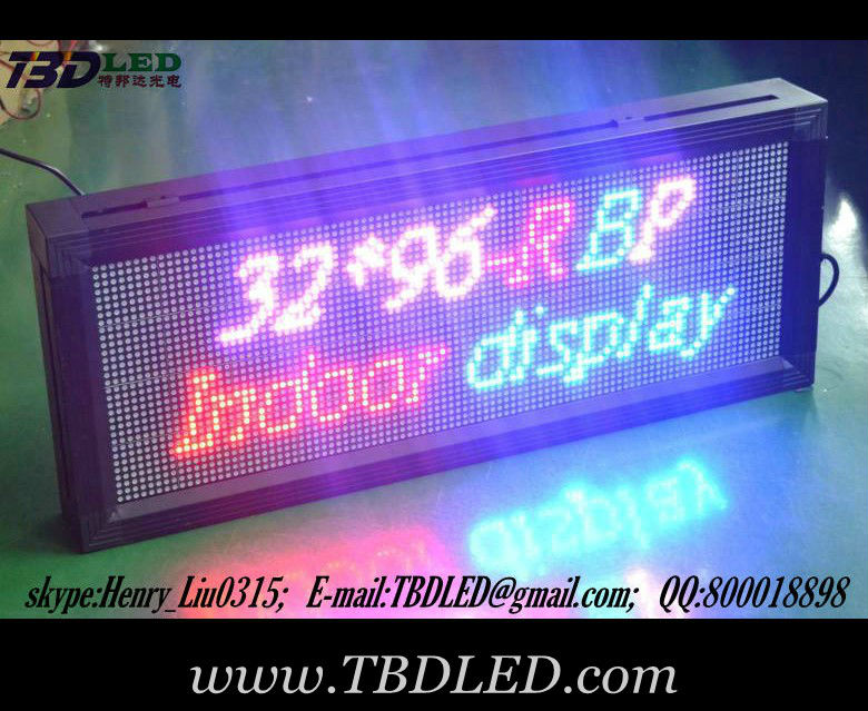 p7.62 beautiful full color 16 dots led display sign