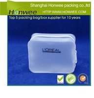 new promotional stand up clear pvc cosmetic bag